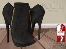 Poute- Fiona High Heels- Black