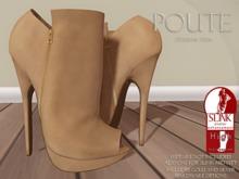 Poute- Fiona High Heels- Tan