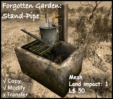 Stand Pipe & Watering Can