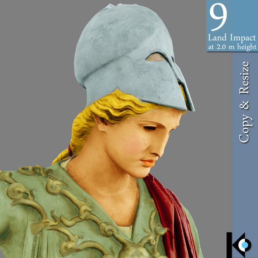 3D / Bust Of Athena / 9 land impact