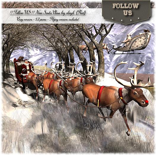 !! Follow US !! NEW Santa Claus big sleigh COPY version