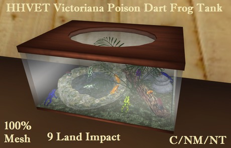HHVET Victoriana - Pet Poison Dart Frog Tank
