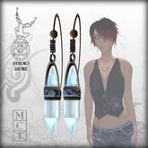 :+:SS:+: Quartz Crystal Earrings [Abalone Shell]