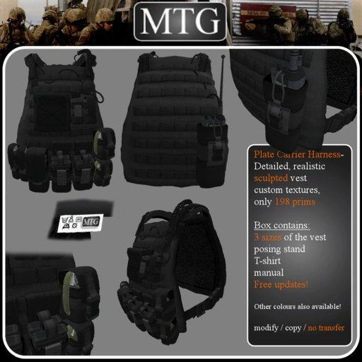>>MTG<< Plate Carrier Harness BLACK box 1.0 >>SALE -50%<<