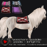 .Hoof Hearted.   Western Saddle pads (brights) - for Bc quarter horse