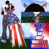 NEKO 4TH OF JULY  TAIL AND EARS SET BOXED
