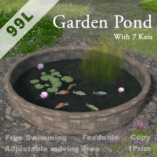 Garden Pond with 7Kois