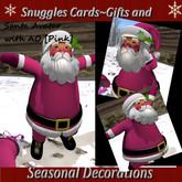 Snuggles Christmas Santa Avatar & sack {Pink]