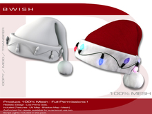 BWish - Santa Hat With Lights Mesh Full Permissions