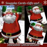 Snuggles Christmas Santa Avatar & sack {Red]