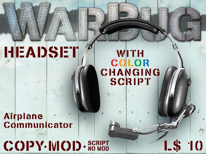 WarBug Command Center Aviator Headset