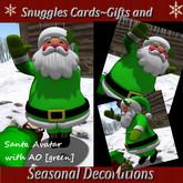 Snuggles Christmas Santa Avatar & sack {Green]