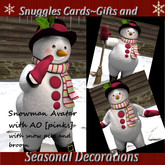 Snuggles Snowman Avatar & snow pile &broom {pinks}