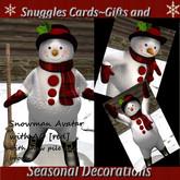 Snuggles Snowman Avatar & snow pile &broom {reds}