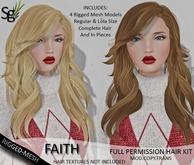 !Saltgrass! Faith Full Perm Rigged-Mesh Hair