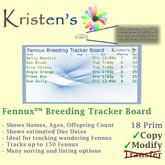 Kristen's @ - Fennux Breeding Tracker Board