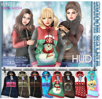 NS::  Mesh Winter Hoodie (HUD)