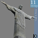 3D / Cristo Redentor Statue / 11 land impact