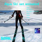 Aqua Skii Boots poles,Skiis animated (box)