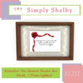 Remember This Moment  Shadow Box - Clearance Sale Item