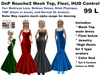 OnP Rouche2 Gown Mesh Main with Flexi and Hud Color