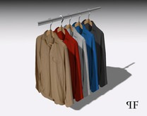 Clothes rack with shirts 001