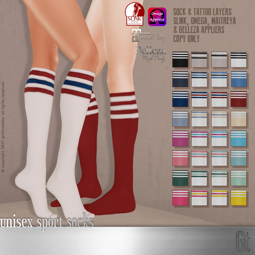 [girl thursday] unisex sport socks