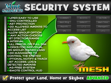 Birdie Security System : Protect your land, home or skybox