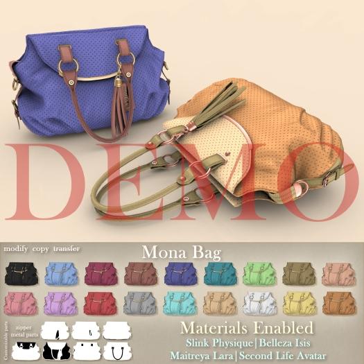 [DEMO] Mutresse - Mona Bag - 18 Colors for Slink/Maitreya/Belleza Isis/Classic Avatar