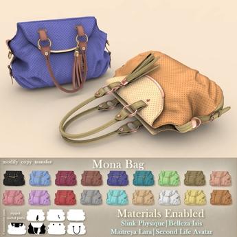 Mutresse - Mona Bag - 18 Colors for Slink/Maitreya/Belleza Isis/Classic Avatar