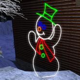 Snowman Animated Christmas Light Decoration