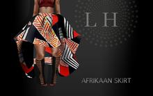 L&H :: AFRIKAAN SKIRT :: Black & Red