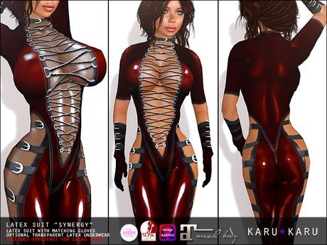 KARU KARU - Latex Suit SYNERGY (Ruby)