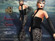 .:JUMO:. Padme Gown Black