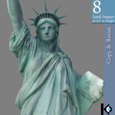 3D / Statue of Liberty / 8 land impact