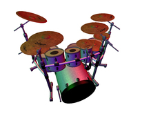 7 Piece Drum kit (By Lindsey Warwick)