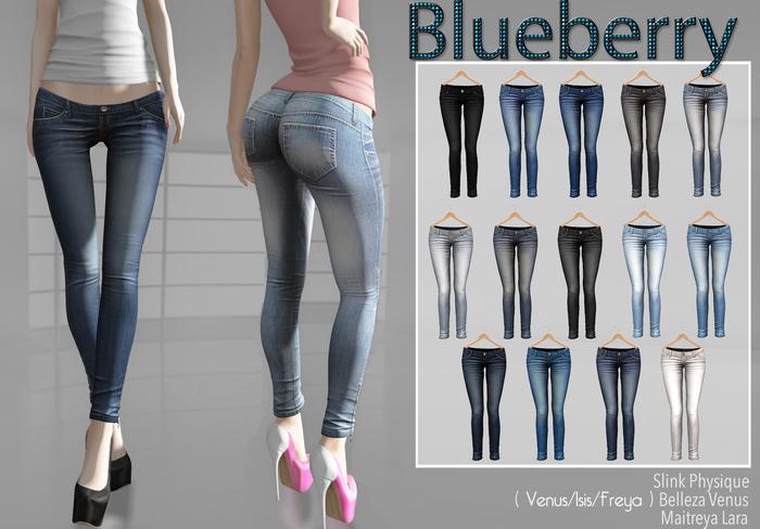 Blueberry - Mia - Maitreya/Belleza/Slink - Fat Pack