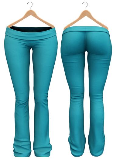 Blueberry - Sylvia Mesh Yoga Pants - Maitreya/Belleza/Slink - Aqua
