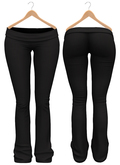 Blueberry - Sylvia Mesh Yoga Pants - Maitreya/Belleza/Slink - Black