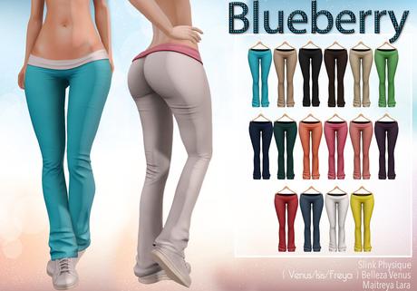 Blueberry - Sylvia Mesh Yoga Pants - Maitreya/Belleza/Slink - Fat Pack