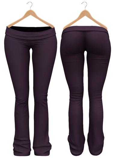 Blueberry - Sylvia Mesh Yoga Pants - Maitreya/Belleza/Slink - Purple