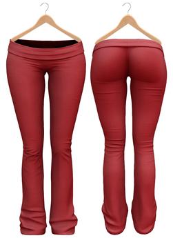Blueberry - Sylvia Mesh Yoga Pants - Maitreya/Belleza/Slink - Red