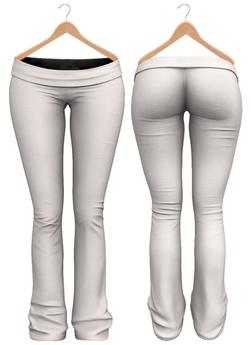 Blueberry - Sylvia Mesh Yoga Pants - Maitreya/Belleza/Slink - White