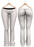 Blueberry - Sylvia Mesh Yoga Pants - Maitreya/Belleza/Slink - White