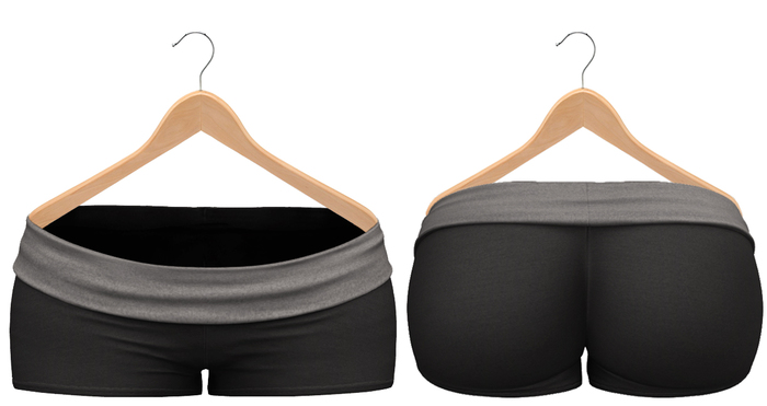 Blueberry - Sylvia Mesh Yoga Shorts - Maitreya/Belleza/Slink - Black
