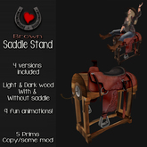 .Hoof Hearted.  Western Saddle Stand (Brown Version)