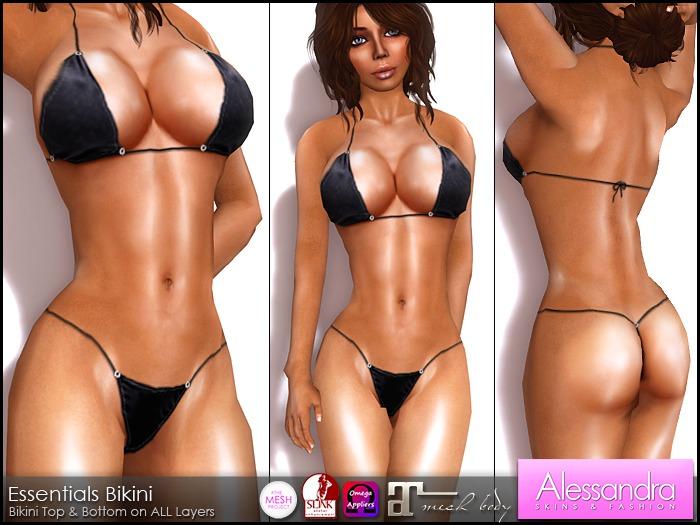 ALESSANDRA - Essentials Bikini BLACK