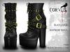 Corvus : Black/Gold Huntress Shoes