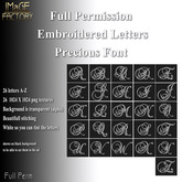 IMaGE Factory Embroidered Letters - Precious Font
