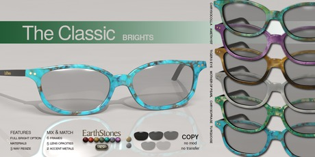 EarthStones Mesh Eyeglasses - The Classic - Brights